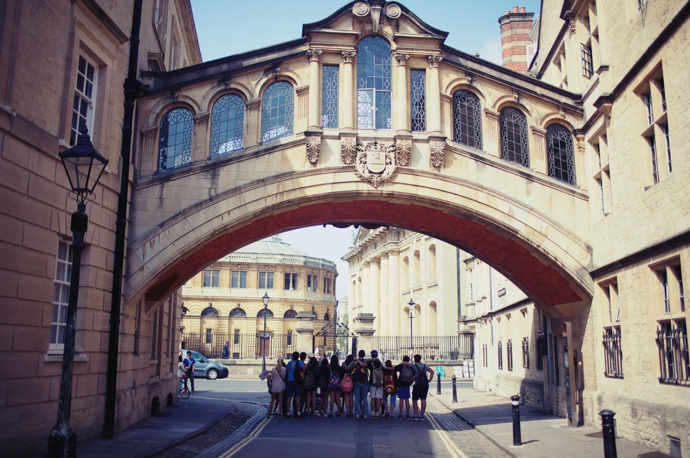 The Bridge of Sighs joins two parts of Hertford College