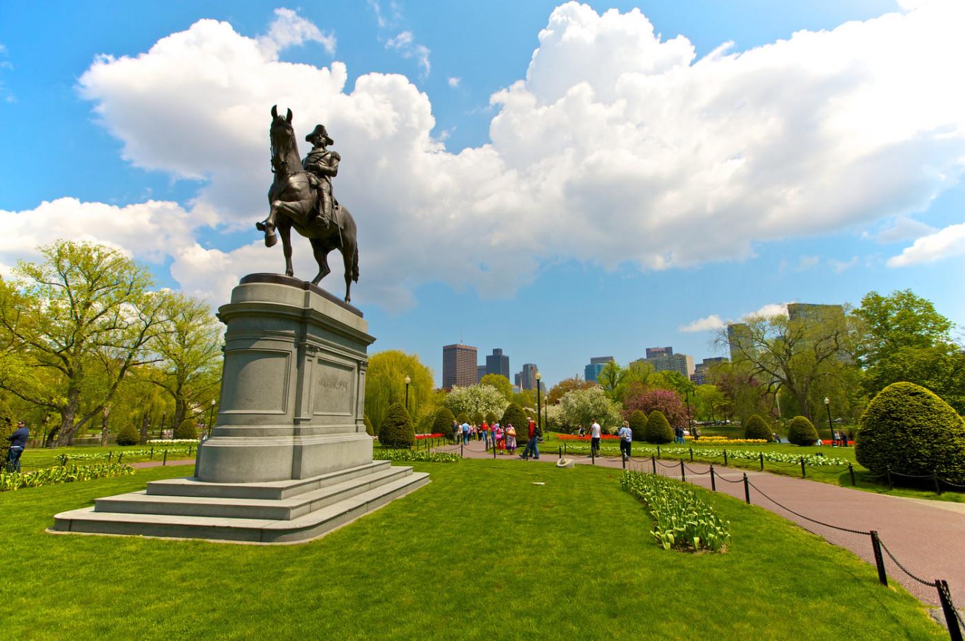 George Washington statue in Public Garden