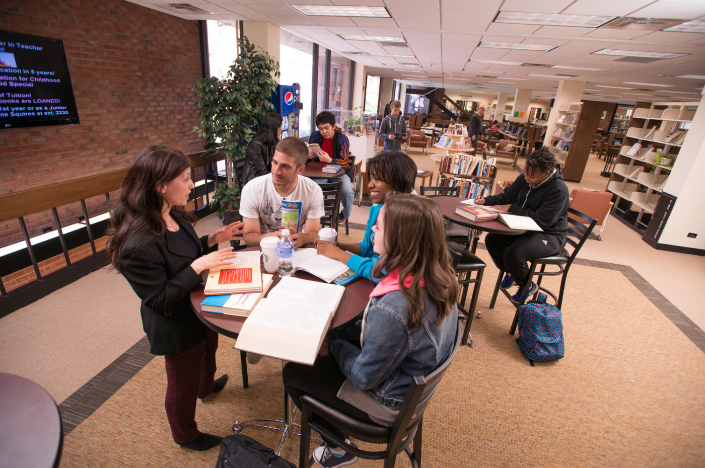 Breakout area in the library