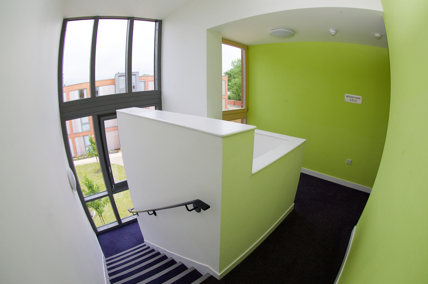 Bright stairs and halls